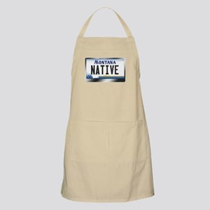 Montana License Plate - [NATIVE] Apron